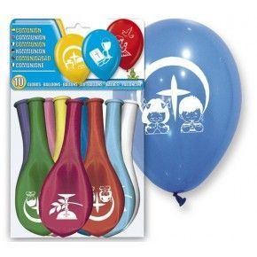 SET 10 GLOBOS COMUNION
