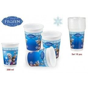PACK 10 VASOS FROZEN 200 ML